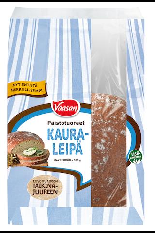 Vaasan Paistotuoreet Kauraleipä 580 g kauraisa sekaleipä