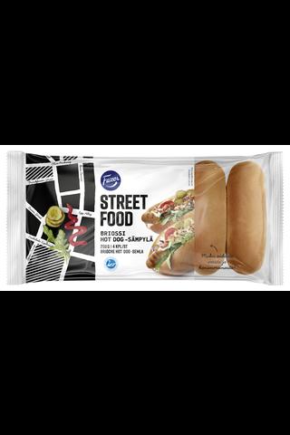 Fazer Street Food 200g 4kpl Briossi hot dog -sämpylä sämpylä