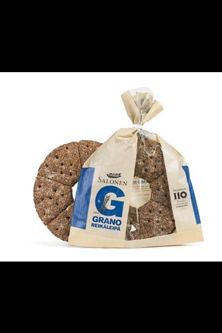 Perheleipuri Salonen Grano reikäleipä 230 g ruisleipä, halkaistu
