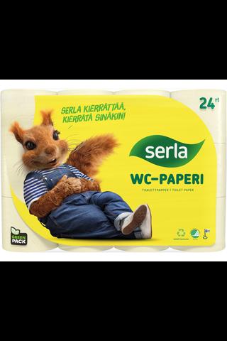 Serla Toilet WC-paperi 24 rl keltainen, arkkikoko...