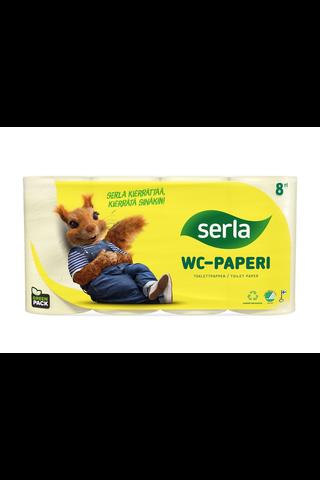 Serla Toilet WC-paperi keltainen 8 rl,arkkikoko...