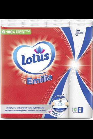 Lotus Emilia valkoinen talouspyyhe 16rl