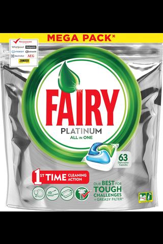 Fairy 63kpl Platinum All in One Original astianpesuainetabletti