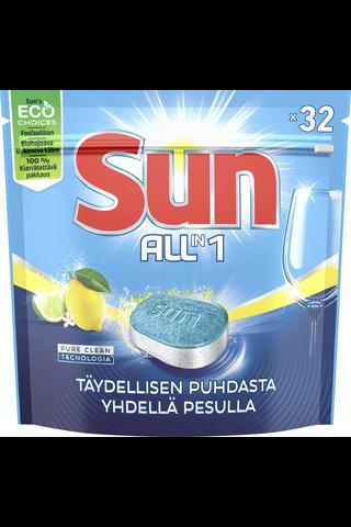 Sun Konetiskitabletti All-in-1 Lemon 32 tab