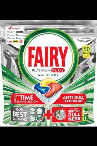 Fairy 50kpl Platinum Plus All in One Lemon...