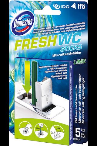 Domestos WC-raikastintikut Lime 5×9,5g
