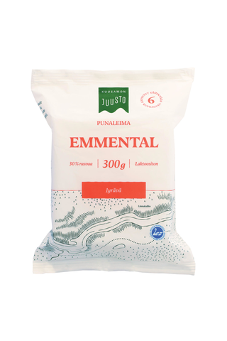 Kuusamon Juusto punaleima Emmental 300 g