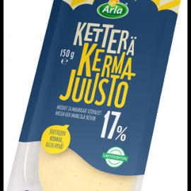 Arla Ketterä Kermajuusto 17% viipale 150g
