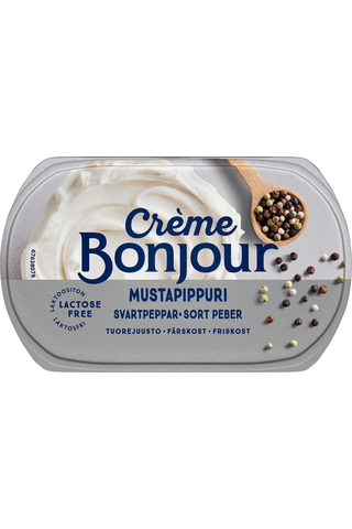 Crème Bonjour 200g Mustapippuri tuorejuusto...
