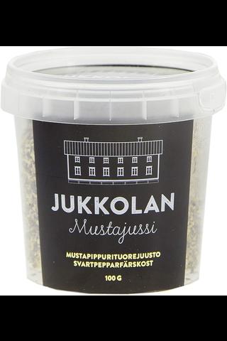 Jukkolan Mustajussi-mustapippurituorejuusto...
