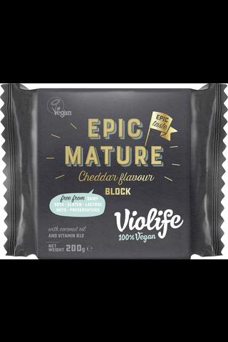 Violife 100% Vegan Epic Mature Cheddar Flavour...
