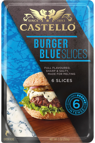 Castello 150 g Burger Blue sinihomejuusto...