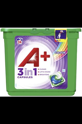 A+ 24kpl 3in1 Pods Color nestemäinen pyykinpesutabletti