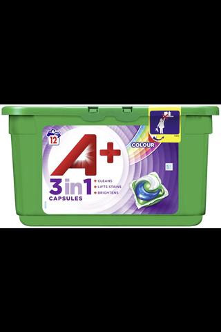 A+ 12kpl 3in1 Color nestemäinen pyykinpesutabletti