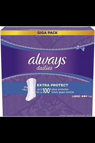 Always 68kpl Large Extra Protect pikkuhousunsuoja