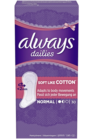 Always 30kpl Normal Soft Like Cotton pikkuhousunsuoja