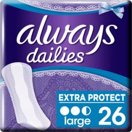 Always 26kpl Large Extra Protect pikkuhousunsuoja