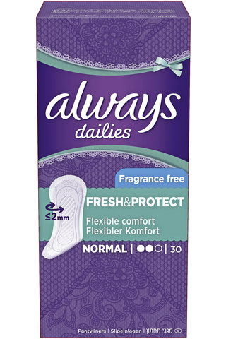 Always 30kpl Normal Fresh&Protect pikkuhousunsuoja