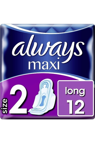Always 12kpl Maxi Long 2 with wings terveysside