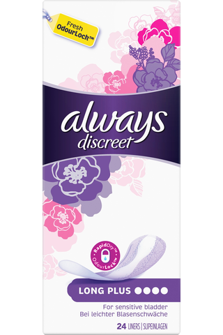 Always 24kpl Discreet Long Plus inkontinenssisuoja