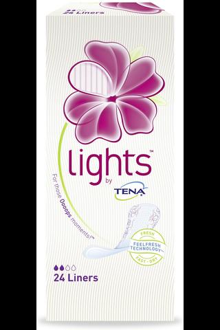 Lights by Tena Liner inkontinenssi pikkuhousunsuoja 24kpl