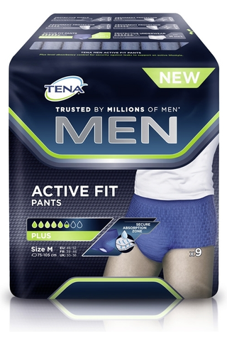 Tena Men Active Fit Pants Medium inkontinenssisuoja 9kpl