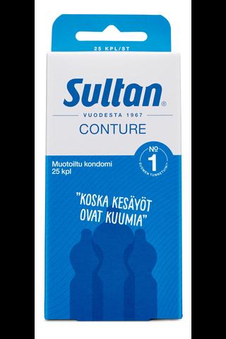 Sultan Conture muotoiltu kondomi 25kpl