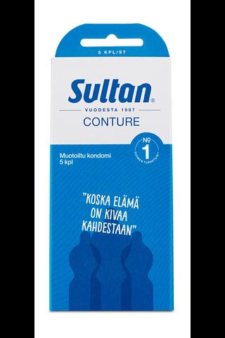 Sultan Conture muotoiltu kondomi 5kpl