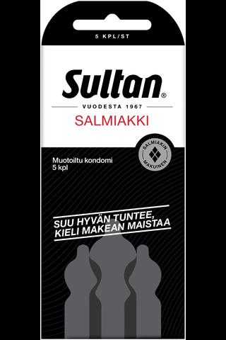 Sultan 5kpl Salmiakki kondomi