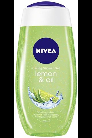 NIVEA 250ml Lemon & Oil Caring Shower...