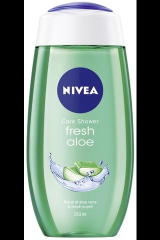 NIVEA 250ml Fresh Aloe Shower Gel -suihkugeeli