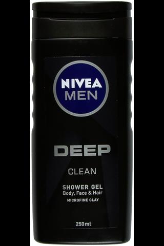 NIVEA MEN 250ml Deep Shower Gel -suihkugeeli