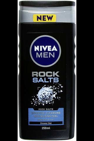 NIVEA MEN 250ml Rock Salts Shower Gel -suihkugeeli