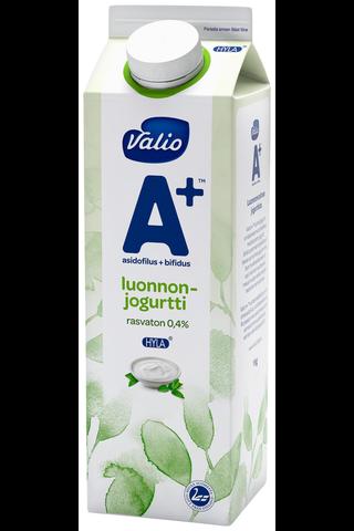 Valio A+ luonnonjogurtti 1 kg rasvaton HYLA