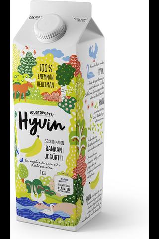 Juustoportti Hyvin sokeroimaton jogurtti 1 kg banaani laktoositon