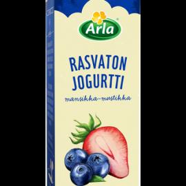 Arla 1kg rasvaton mansikka-mustikka jogurtti