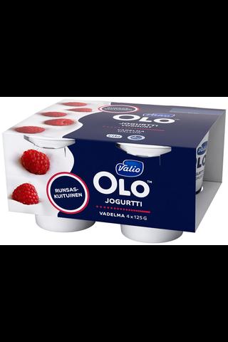 Valio OLO jogurtti 4×125 g vadelma laktoositon