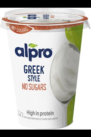 Alpro Greek Style Unsweetened Hapatettu soijavalmiste,...