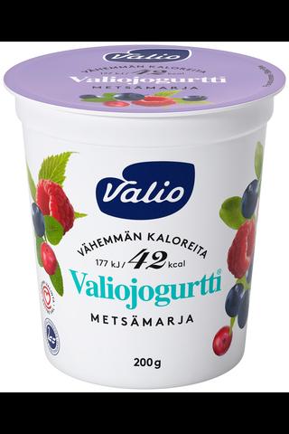 Valiojogurtti 200 g vähemmän kaloreita...
