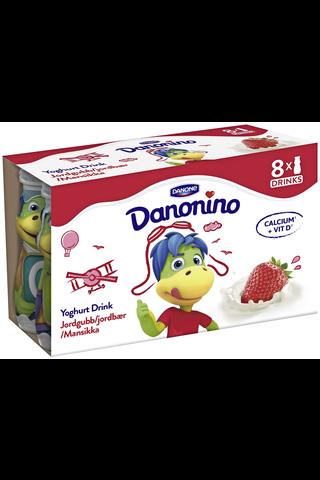 Danone Danonino 8x100g jogurttijuoma mansikka