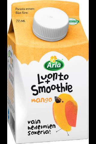 Arla Luonto+ AB 215ml Mango laktoositon Smoothie