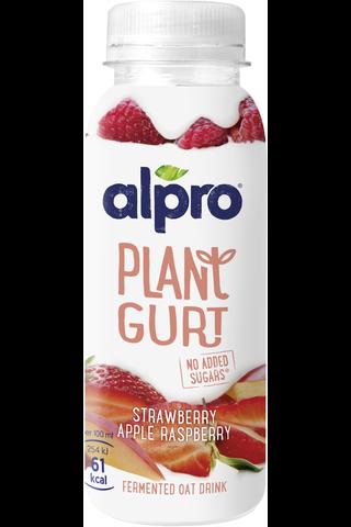 Alpro Plantgurt kaurapohjainen juoma mansikka-omena-vadelma,...