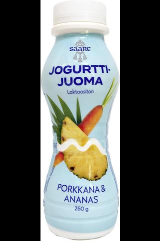 Saare 250g jogurttijuoma porkkana-ananas
