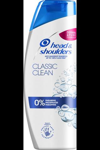 head&shoulders 500ml Classic Clean shampoo
