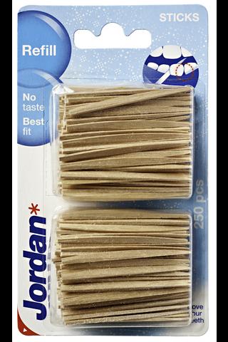 Jordan täyttöpakkaus hammastikku 2x125kpl