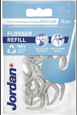 Jordan 20kpl Easy Clean Flosser refill täyttöpakkaus