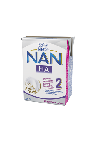 Nestlé Nan 200ml HA 2 maitopohjainen käyttövalmis vieroitusvalmiste