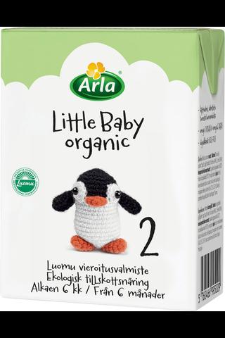 Arla Little Baby 2 200 ml Luomu UHT maitopohjainen vieroitusvalmiste käyttövalmis