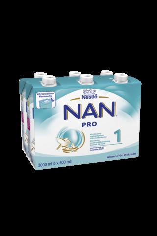 Nestlé Nan 6x500ml Pro 1 maitopohjainen...