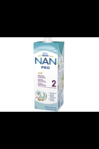 Nestlé Nan 1000ml Pro 2 käyttövalmis maitopohjainen vierotusvalmiste